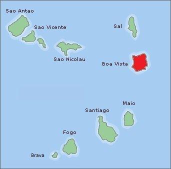 kaart boa vista kaapverdie