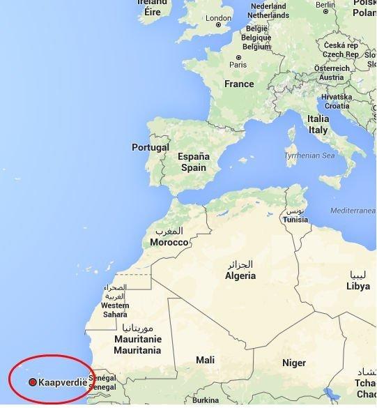 Waar Ligt Kaapverdie.Ligging En Eilanden Kaapverdie