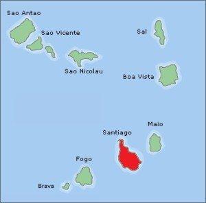 kaart santiago kaapverdie