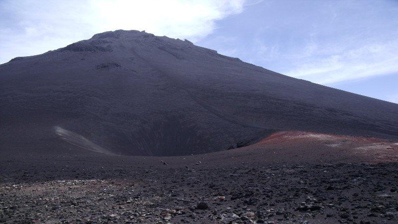 krater vulkaan kaapverdie